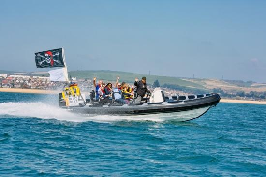Weymouth, UK: 'Buccaneer' out on easter weekend
