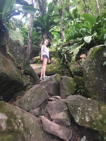 Solomon Water Taxi & Tours: Climbing the Piton with Solomon's cousin- a great guide!