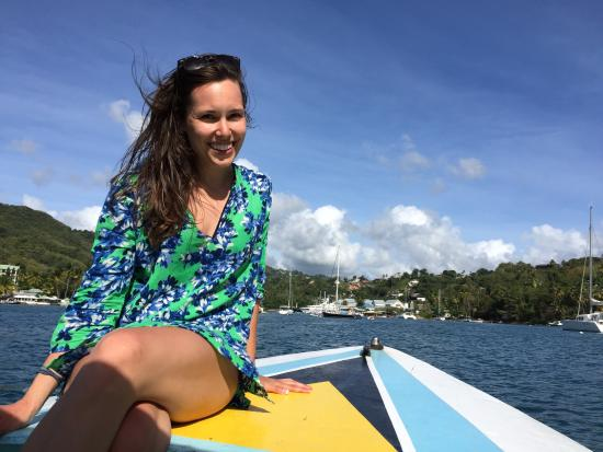Solomon Water Taxi & Tours: Visiting Marigot Bay on Solomon's boat
