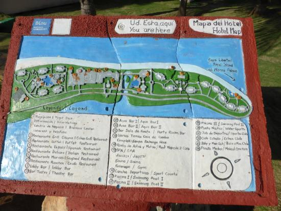 Mapa De Marina D Or.Map Of The Hotel Picture Of Blau Marina Varadero Resort