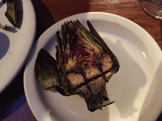 The Brewhouse: perfectly grilled artichoke!