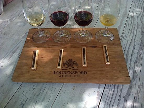 Lourensford Wine Estate: Chocolate and wine pairing