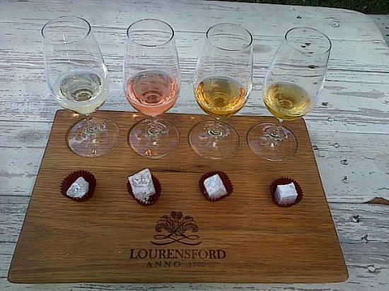 Lourensford Wine Estate: Turkish Delight and wine pairing