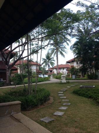 Nirwana Gardens - Banyu Biru Villa : View from the front door -Villa: Suria 2-