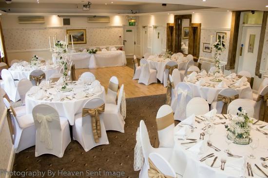 Steeton Hall Hotel: vintage theme wedding set up