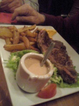 Les Cariatides: piatto di carne