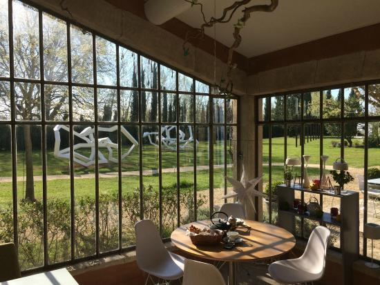 La Bastide Rose : la vista dal ristorante verso il giardino