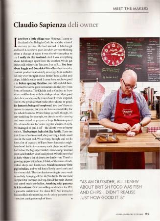 Maialino Deli & Cafe: Home&Interiors Magazine Scotland review