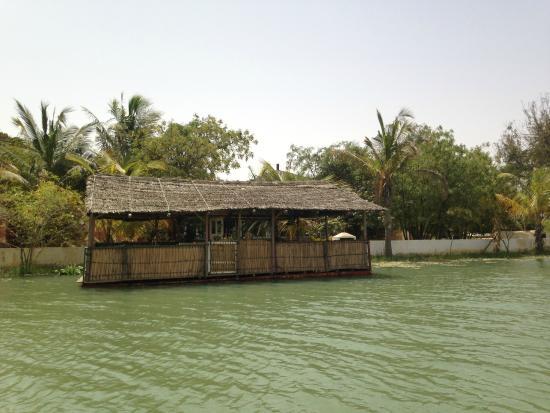 Lampsar Lodge: Vue depuis le fleuve en pédalo
