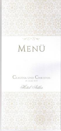 Hotel Adler Asperg: Un menù straordinario - prelibatezze italo-greco-tedesche