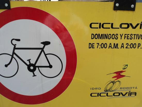 Hilton Bogota: Roads close for Ciclovia