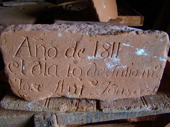 San Cosme y Damian, Paraguai: Inscripción de la época