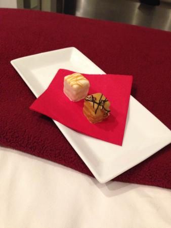 Petit fours delivered to my room every night