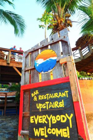 The Sunken Fish Tree Top Ocean View Bar & Restaurant: see you up stairs...