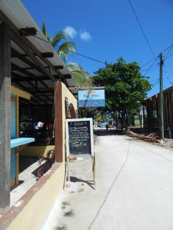 Blue Water Deli: About a block or so off the beach