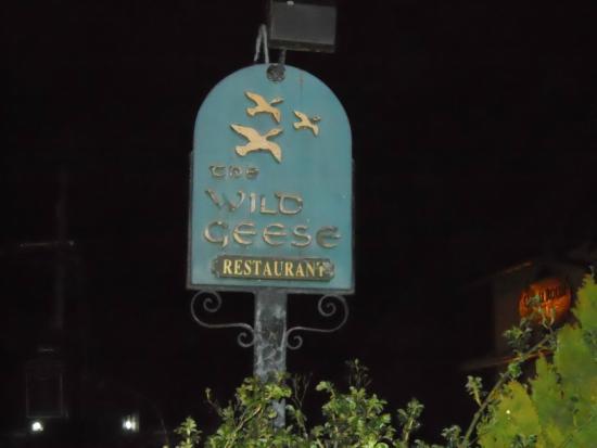 Wild Geese Restaurant: sign