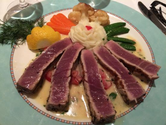 seared tuna in buerre blanc sauce picture of the chef s table rh tripadvisor com