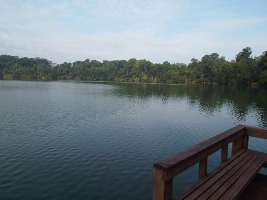 Yeak Laom Volcanic Lake: View from the small dock.
