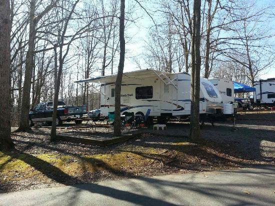 Misty Mountain Camp Resort: We camped on the upper level up in the woods.