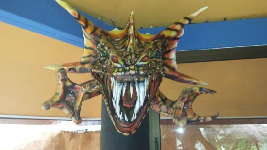 Boquete Garden Inn: Local Mask Decorating The Bar Area