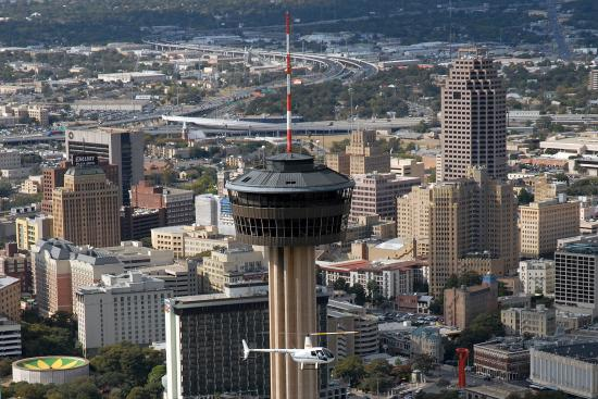 Downtown San Antonio Tower Of Americas Picture Of Alamo