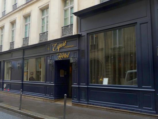 facade of hotel esprit saint germain picture of hotel esprit saint germain paris tripadvisor. Black Bedroom Furniture Sets. Home Design Ideas