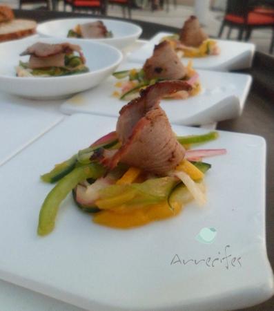Arrecifes Seafood & Steakhouse: Pato con Pimientos.