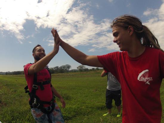 Skydive Costa Rica: After the jump!