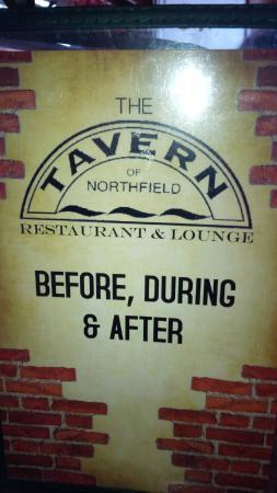 Tavern of Northfield: Sign