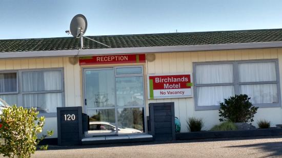 Front view of Birchlands Motel