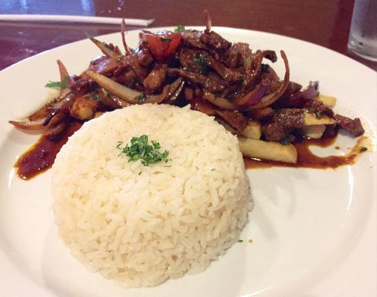 Aji Peruvian Restaurant: Vegetarian Lomo Saltado