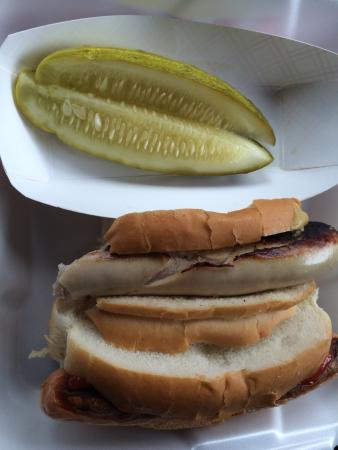 Heid's of Liverpool: Hot dogs and pickle