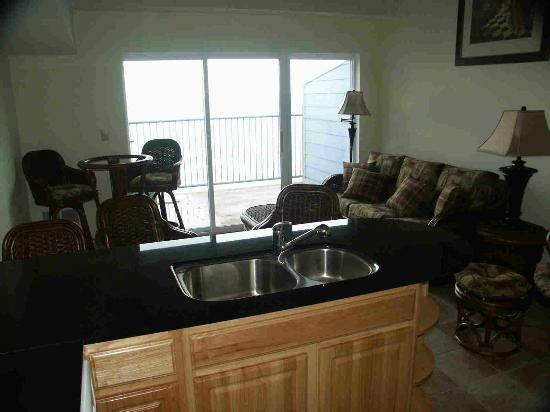 Condo kitchen/living room - Picture of St. Hazards, Middle Bass ...