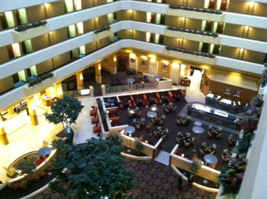 Houston Marriott South At Hobby Airport Lobby From 6th Floor