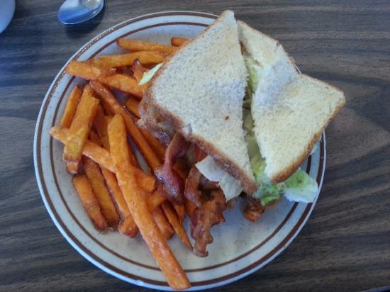 Diner: The BLT with sweet potato fries is a thumbs up