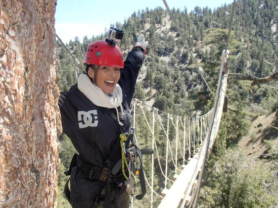 1st rappel completed. - Picture of Big Pines Zipline Tours ...