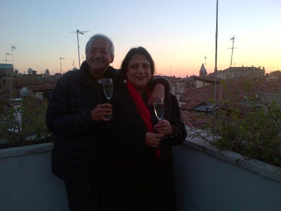 Hotel Locanda Fiorita : On the rooftop at sunset
