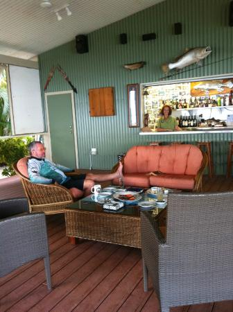 Tiwi Islands, Australia: just relaxing by the bar before dinner