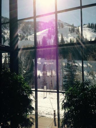 Lodge at Snowbird: ホテルのロビーからの眺め