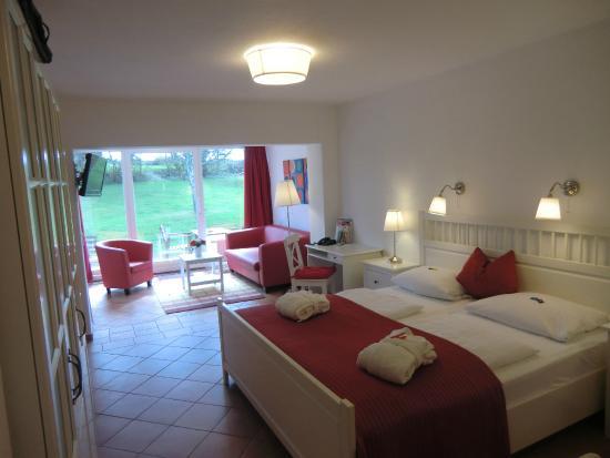 Hotel Hof Krähenberg: unser tolles Gartenzimmer