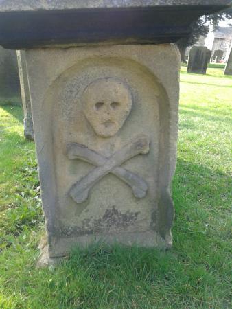 Eyam Parish Church of St Lawrence: Gravestone detail