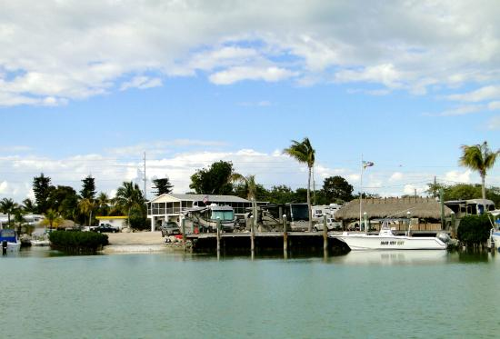 Bonefish Bay Motel: Looking back at resort from the bay.