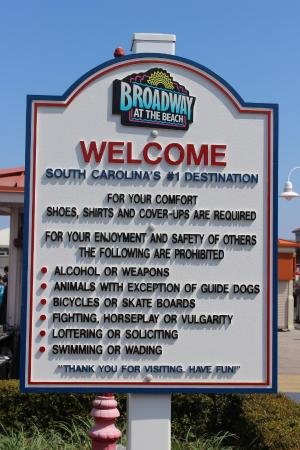 Rules Regulations Broadway At The Beach April 2015