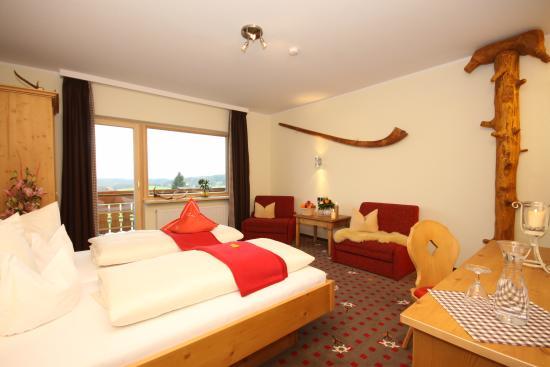 Landhotel Alphorn: Landhotelzimmer mit Bergblick