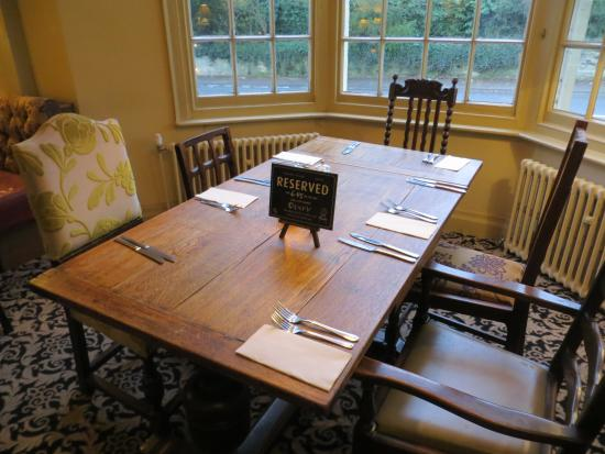 Our dining table picture of the cross hands hotel for Table 52 reviews