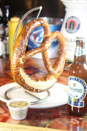 Summits Wayside Tavern: The pretzel is imported from Germany and is a meal itself.