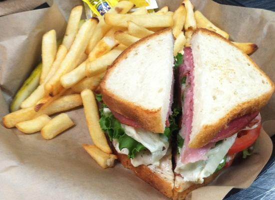 Hots Deli: Gluten Free Sancdwich and Fries