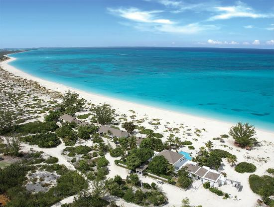 The Meridian Club Turks & Caicos: Aerial of resort and beach