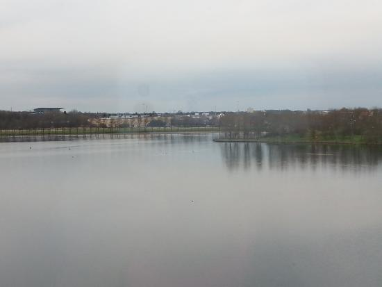Travelodge Doncaster Lakeside: window looked over the lake.
