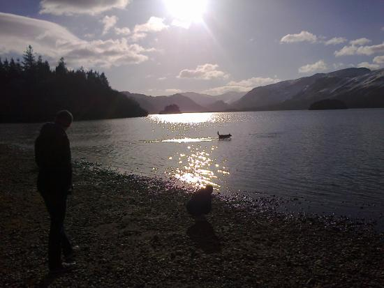 Fitz Guest House and Cafe: Lake Derwentwater in February looking at Castle Crag